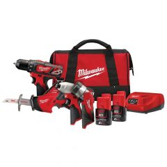 Milwaukee M12 BPP4A-202C 4 Piece Kit 12V 2 x 2.0Ah Li-ion - MILM12BPP4A2
