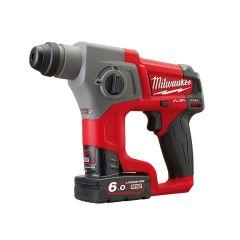 Milwaukee M12 CH-602X Fuel SDS Hammer 12V 2 x 6.0Ah Li-Ion - MILM12CH602X