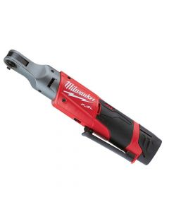 Milwaukee M12 FIR14-201B FUEL Sub Compact 1/4in Impact Ratchet 12V 1 x 2.0Ah Li-ion - MILM12FIR142