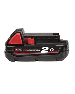 Milwaukee M18 B2 REDLITHIUM-ION Slide Battery Pack 18V 2.0Ah Li-Ion - MILM18B2