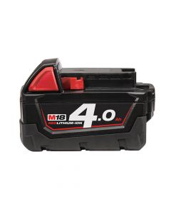 Milwaukee M18 B4 REDLITHIUM-ION Slide Battery Pack 18V 4.0Ah Li-Ion - MILM18B4