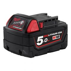 Milwaukee M18 B5 REDLITHIUM-ION Slide Battery Pack 18V 5.0Ah Li-Ion - MILM18B5