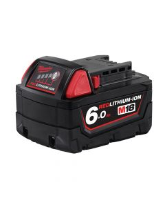 Milwaukee M18 B6 REDLITHIUM-ION Slide Battery Pack 18V 6.0Ah Li-Ion - MILM18B6
