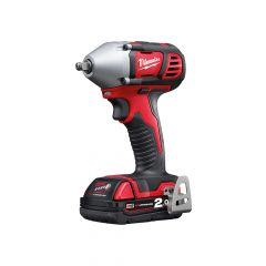 Milwaukee M18 BIW38-202C Compact 3/8in Impact Wrench 18V 2 x 2.0Ah Li-Ion - MILM18BIW382