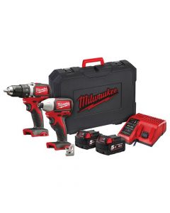 Milwaukee M18 BLPP2A2 Brushless Twin Pack 18V 2 x 5.0Ah Li-ion - MILM18BLPP2A