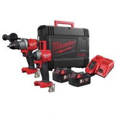 Milwaukee M18 FPP2A2  FUEL Gen 3 Twin Pack 18V 2 x 5.0Ah Li-ion - MILM18FPP2A2