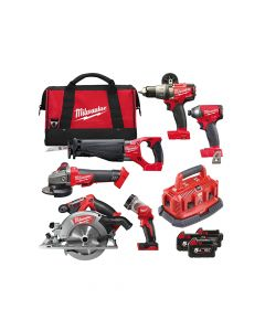 Milwaukee M18 FPP6B-503B FUEL Power Pack 6 Piece Kit 18V 3 x 5.0Ah Li-ion - MILM18FPP6B5