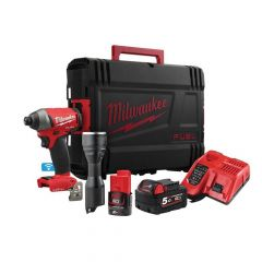 Milwaukee M18 ONEPP2L-522X FUEL ONE-KEY Twin Pack 18V 1 x 5.0Ah, 12V 1 x 2.0Ah - MILM18IDKIT