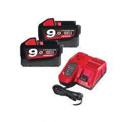 Milwaukee M18 NRG-902 Energy Pack 18V 2 x 9.0Ah Li-Ion - MILM18NRG9