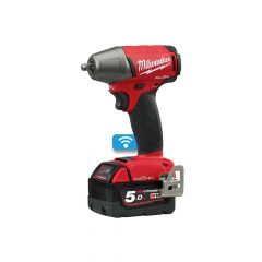 Milwaukee M18 ONEIWF38-502X Fuel ONE-KEY 3/8in F Ring Impact Wrench 18V 2 x 5.0Ah Li-Ion - MILM18OIW38