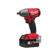Milwaukee M18 ONEIWF12-502X Fuel ONE-KEY 1/2in FR Impact Wrench 18V 2 x 5.0Ah - MILM18ONEIW5