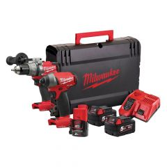 Milwaukee M18 ONEPP2A-523X ONE-KEY Twin Pack 18V 2 x 5.0Ah 12V 1 x 2.0Ah Li-ion - MILM18ONEPPA