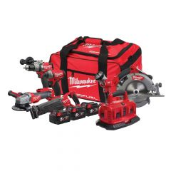Milwaukee M18 ONEPP6A-503B  Fuel ONE-KEY 6 Piece Power Pack 18V 3 x 5.0Ah Li-ion - MILM18OPP6A