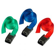 Master Lock Lashing Straps with Metal Buckle Coloured 2.5m 2 Piece - MLK3110ECOL