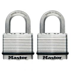 Master Lock Excell Laminated Steel 50mm Padlock - 25mm Shackle - Keyed Alike x 2 - MLKM5T