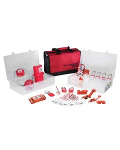 Master Lock Lockout / Tagout Electrical Group 23-Piece Kit with 410RED Padlocks - MLKS1458E410