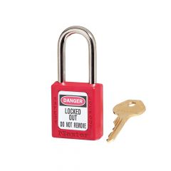 Master Lock Lockout Padlock 38mm Body & 6mm Hardened Steel Shackle - MLKS410RED