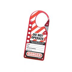 Master Lock Snap-on Hasp Lockout Labelled - MLKS427