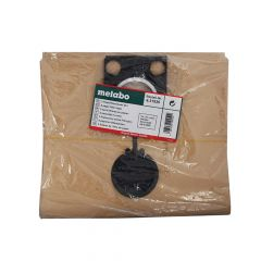 Metabo Paper Filter Bags For ASR Wet & Dry Vacuum Cleaners Pack of 5 - MPTASRBAGS