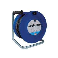 Masterplug Heavy-Duty Cable Reel 50 Metre 4 Socket 13A Thermal Cut-Out 240 Volt - MSTHDCT50134