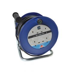 Masterplug Heavy-Duty Cable Reel 30 Metre 4 Socket 13A Thermal Cut-Out 240 Volt - MSTLDCT30134