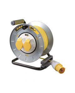 Masterplug Pro-XT Metal Cable Reel 30 Metre 16A 110 Volt Thermal Cut-Out - MSTOTMU30162