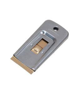 Personna Deluxe Metal Retractable Window Scraper + 5 Blades (Carded) - PSA660445