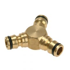 Rehau Brass Y Connector 12.5mm (1/2in) - REH283669