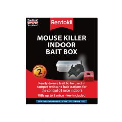 Rentokil Mouse Killer Indoor Bait Box Twin Pack - RKLPSM82