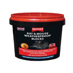 Rentokil Rat & Mouse Weatherproof Blocks, Tub of 5 - RKLPSMR41
