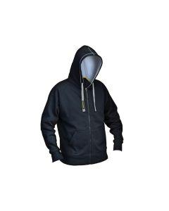 Roughneck Black & Grey Zip Hooded Sweatshirt - XXL (50-52in) - RNKZIPHODXXL