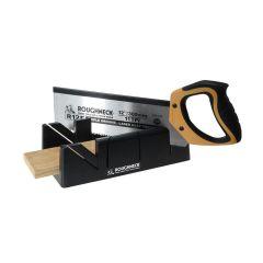 Roughneck Mitre Box & Hardpoint Tenon Saw Set 300mm (12in) - ROU34490
