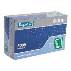 Rapid 6mm Galvanised Staples Box of 5000 - RPD1406B5