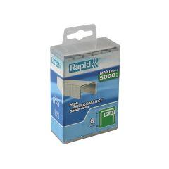 Rapid 6mm Galvanised Staples Poly Pack 5000 - RPD1406PP