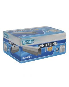 Rapid 10mm DP x 5m White Staples Box 5 x 1000 - RPD2810W