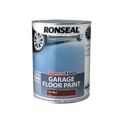 Ronseal Diamond Hard Garage Floor Paint Tile Red 5 Litre - RSLDHGFPTR5L