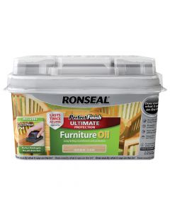 Ronseal Perfect Finish Hardwood Garden Furniture Oil Teak 750ml - RSLGFOT750