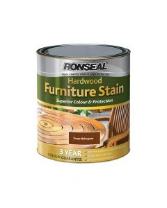 Ronseal Ultimate Protection Hardwood Garden Furniture Stain Deep Mahogany 750ml - RSLHWFSDM750