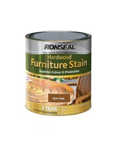 Ronseal Ultimate Protection Hardwood Garden Furniture Stain Rich Teak 750ml - RSLHWFSRT50
