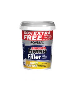 Ronseal Smooth Finish Multi Purpose Wall Filler Ready Mixed 600g +50% - RSLMPRMF6VP