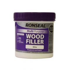 Ronseal Multi Purpose Wood Filler Tub White 465g - RSLMPWFW465