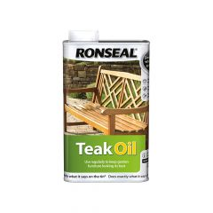 Ronseal Garden Furniture Teak Oil Can 500ml - RSLTO500