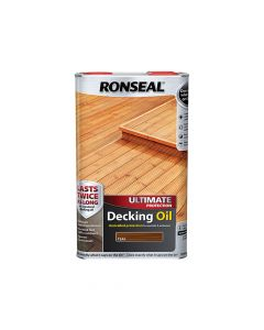Ronseal Ultimate Protection Decking Oil Teak 5 Litre - RSLUDOT5L