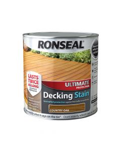 Ronseal Ultimate Protection Decking Stain Country Oak 2.5 Litre - RSLUDSCO25L