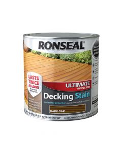 Ronseal Ultimate Protection Decking Stain Dark Oak 2.5 Litre - RSLUDSDO25L