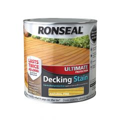 Ronseal Ultimate Protection Decking Stain Natural Pine 2.5 Litre - RSLUDSNP25L