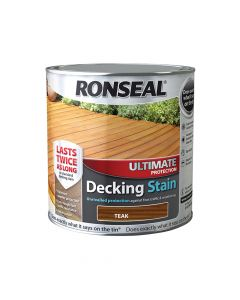 Ronseal Ultimate Protection Decking Stain Teak 2.5 Litre - RSLUDSRT25L
