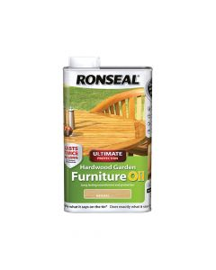 Ronseal Ultimate Protection Hardwood Garden Furniture Oil Natural 1 Litre - RSLUHWGFOC1L