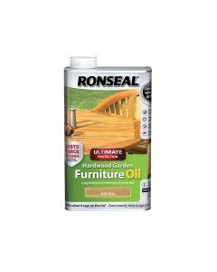 Ronseal Ultimate Protection Hardwood Garden Furniture Oil Natural Clear 500ml - RSLUHWGFOCLR