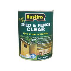 Rustins Quick Dry Shed and Fence Clear Protector 5 Litre - RUSECWP5L
